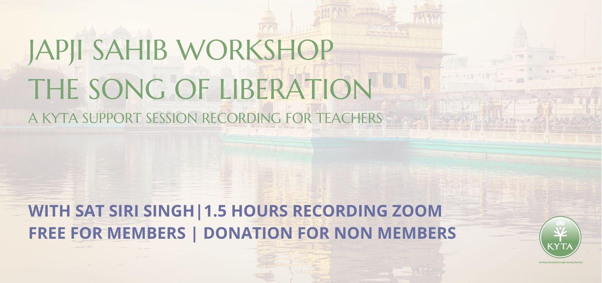 Japji Sahib Workshop The Song of Liberation